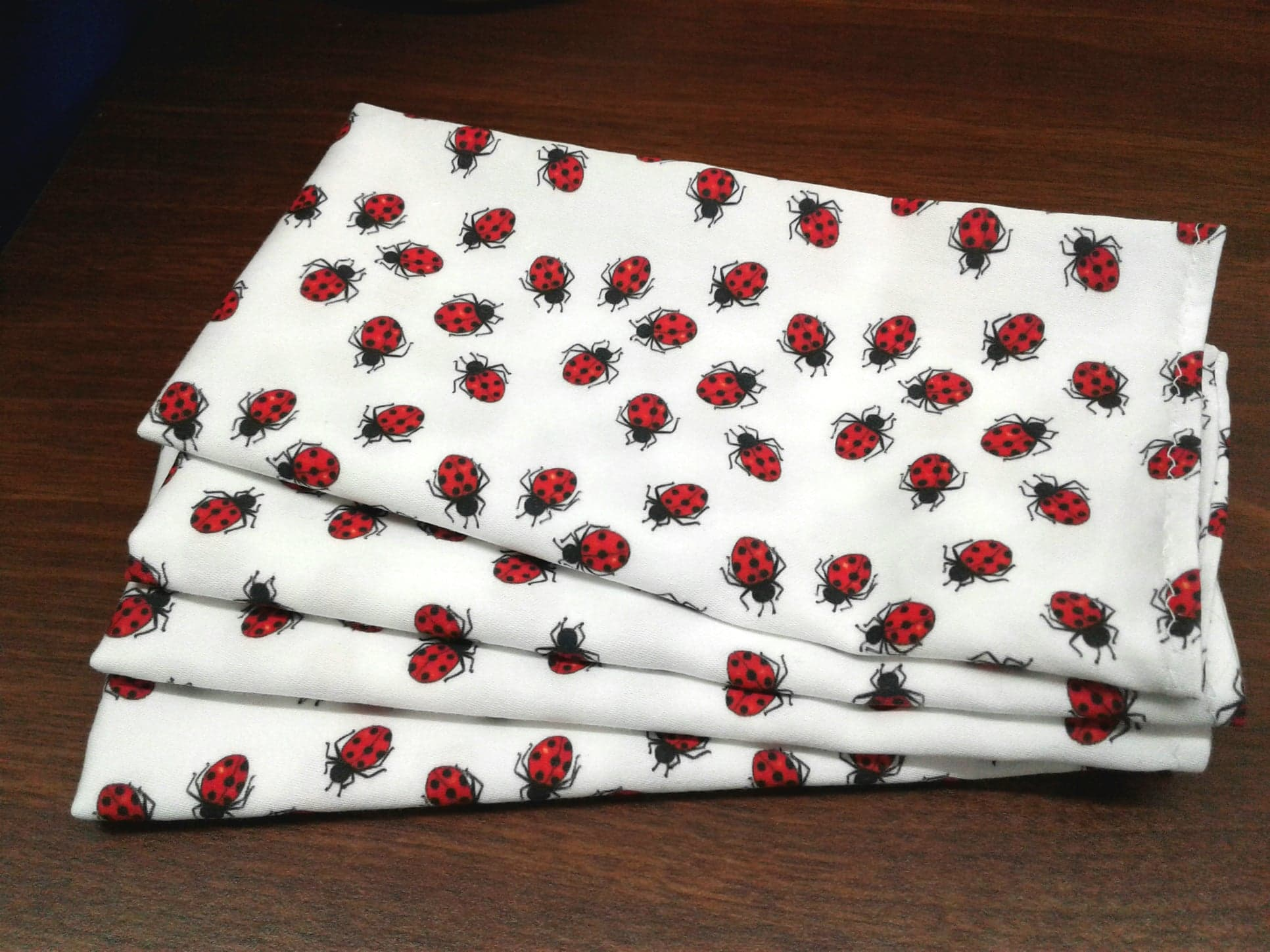 - Red Spotted Ladybugs by hannamccown Insects Bug  Ladybug Garden Summer Cloth Napkins by Spoonflower Nature Dinner Napkins Set of 2